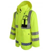 Cheap Hoody Raincoat with Reflective Tape Cheap Workwear for Rain Day for sale