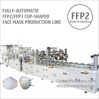 Cheap Fully-automatic FFP2 Cup Respirator Mask Making Machine Production Line for sale