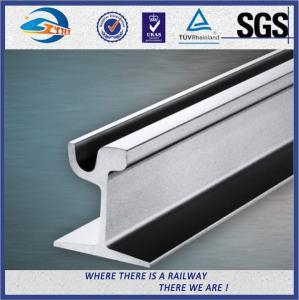Quality Din 536 59R 60R Grooved Steel Crane Rail , 12M Length EN14811 2006 wholesale
