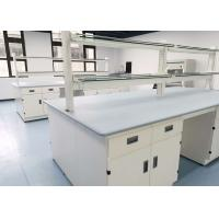 Buy cheap Monolithic Epoxy Resin Laboratory Table Tops 25mm Thickness Grey Color from wholesalers