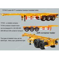 Cheap 20ft 40 foot Skeletal Container Trailer Chassis Semi Trailer Dual line braking system for sale