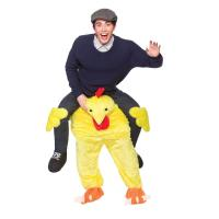 Cheap Polyester / Spandex Halloween Man Riding Chicken Costume With Embroidery Logo for sale