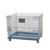 Cheap Folding And Stackable Wire Baskets / Wire Mesh Container For Recycling Industry for sale