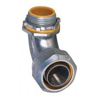 Cheap 1 Inch Liquid Tight Angle Connector , Electrical Conduit Elbow Fittings Polished for sale