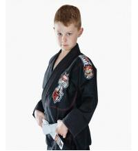 Cheap Custom Black BJJ Gi Kimono Martial Arts Suit / Karate Clothes For Kids for sale