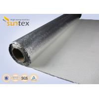 China Non Combustible Aluminum Foil Fiberglass Cloth 1.3mm Laminated Heat Insulation Shield 150C on sale