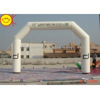 Cheap Customized Advertising White Inflatable Start Finish Arch For Racing Finish Line for sale
