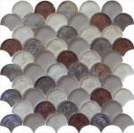 Cheap Meteorites brown grey water waving glass mosaic for sale