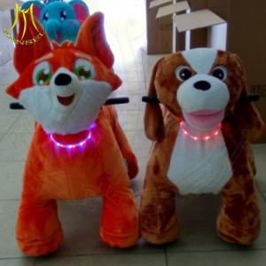 China Hansel china wholesale market plush electric walking animal ride for mall on sale