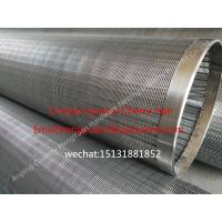 Cheap 251mm Stainless Steel Wedge Johnson Wire Screen Tube , Water Well Slot Pipe for sale