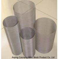 Durable Sliver Stainless Steel Mesh Screen Filter / Cylinders For Extrusion