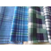 Cheap 100% Cotton Plaid Shirting Fabric Yarn Dyed With Flame Retardant Function for sale