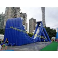 Cheap moon shape giant inflatable blue slide for sale