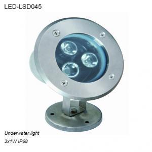 Cheap Stainless steel 3W IP68 waterproof LED Underwater light in pool used for sale