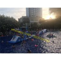 Cheap long pool obstacle course kids water obstacle for sale