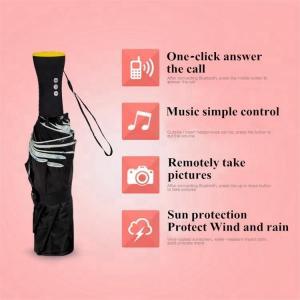 China Innovative Bluetooth Music Cell Phone Tri Fold Umbrella Auto Open And Closed on sale