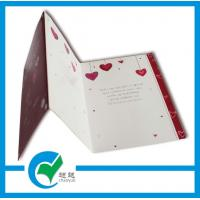 China C2S Art Paper Musical Recording Greeting Card Stock Paper With Lighting Printing Services on sale