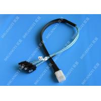 Cheap Flexible SAS To 4x SATA Forward Breakout Cable 3.3 Feet 30 AWG Style for sale