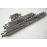 Buy cheap Stainless Steel 316L pleated type sintered fiber felt filter for water from wholesalers