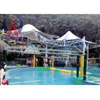 Cheap Colorful Fabric Tensioned Membrane Structures For Aqua Park Shade Metal Frame wholesale