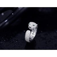 Cheap luxury jewelry online VS Diamond N4225200 Panthere Cartier Ring With Emeralds Onyx for sale