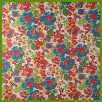 Cheap Popular flowering prints tablecloth made of 100% polyester slub fabrics or customized fabrics for sale