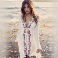 Cheap Fashionable  embroidary  Cover Dresses Bikini Cover Ups Net Coverups  lace coverup for sale