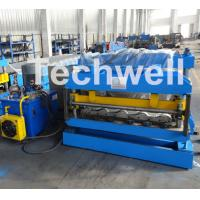 Quality 3D Step Tile Roll Forming Machine , Glazed Roof Panel Roll Forming Machine wholesale