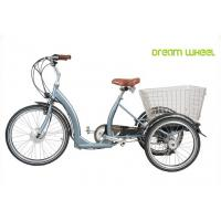 China Long Range Electric Trike Bicycle , 3 Wheel Cargo Bike With Removable Battery on sale