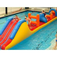 Cheap 0.9mm PVC Inflatable Aqua Park Inflatable Water Obstacle Course For Kids for sale