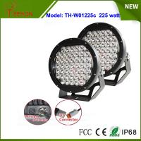 Cheap Black 10 inch 225W spotlights round LED spot driving lights upgraded 5w CREE XPG grade for sale