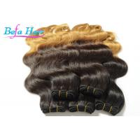 Cheap Luxury Double Wefted Ombre Remy Hair Extensions Peruvian Body Wave Hair Bundles wholesale