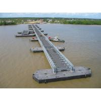 Cheap Highway Bailey Steel Bridge , Modular Recyclable Military Floating Bridge for sale