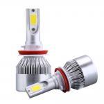 Cheap 7600 Lm Lumen C6 Led Headlight , Universal H4 Car Accessories Led Lights for sale
