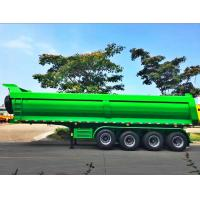 Cheap 45CBM Dump Truck Trailer Air Bag Suspension Type Hydraulic Lifting 4 Axles for sale