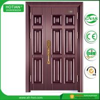 Cheap Standard Size Of Main Gate Modern Designs Spanish Steel Security Door with Galvanized Handle, Hinghes wholesale