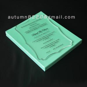 Cheap B IC (3) romantic clear acrylic invitation for sale