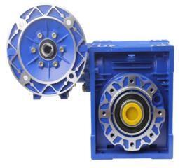 NMRV + NMRV Speed Reduction Gearbox 2.6N.M - 1074 N.M Die Cast Aluminum Alloy Body
