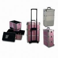 China Aluminum Cosmetic Beauty Trolley Cases with Elegant Design, Customized Sizes are Accepted on sale