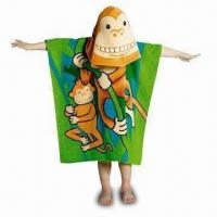 Cheap Children's Beach Towel, Customized Designs are Welcome, Made of Cotton Velour, Measures 120 x 60cm for sale