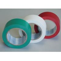 Cheap Green / White Stabilized Floor Marking Tape Adhesive Insulation Plasticized PVC Matte Film for sale
