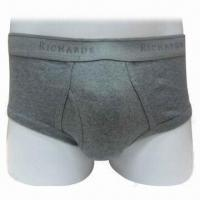 China Boxer Briefs with 100% Cotton Rib 1 x 1, Various Colors and Sizes are Available on sale