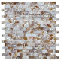 Cheap Morden Luxury Mother Of Pearl Wall Tile , 3d Brick Custom Mosaic Tile for sale