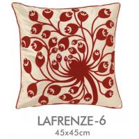 China Red Black Custom Applique Pillow Covers Cushion 18 Inch , Car Sofa Pillow Case on sale
