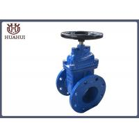 Black Handwheel Resilient Wedge Gate Valve , Water Gate Valve Ss410 Stem