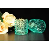 Cheap Color Sprayed Glass Tealight Candle Holders / Glass Candlestick Holders for sale