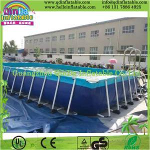 China Above Ground Swimming Pool, Metal Frame Pool on sale