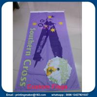 Cheap Custom 110 G Knitted Polyester Fabric Advertising Flags for sale
