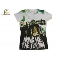 Cheap Various Color Combed Cotton T Shirts , Customized Tee Shirts Screen Printing for sale