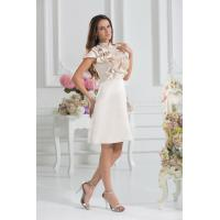 China Champagne Round A-line Knee Length Short Homecoming Dresses Party Gown Ruffles on sale